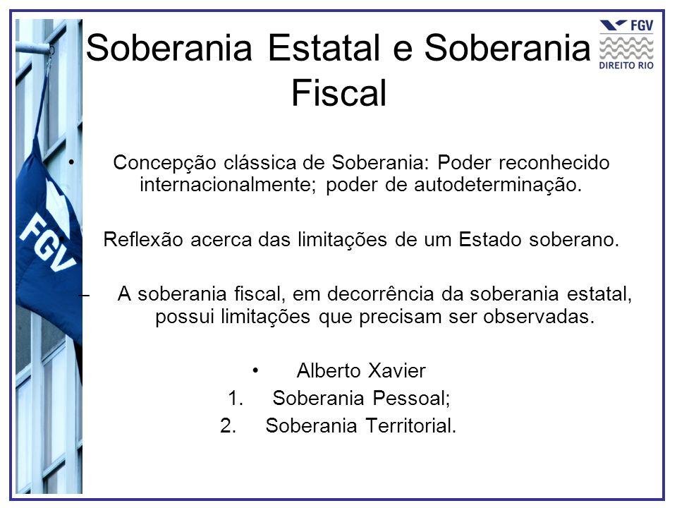 Soberania Estatal e Soberania Fiscal