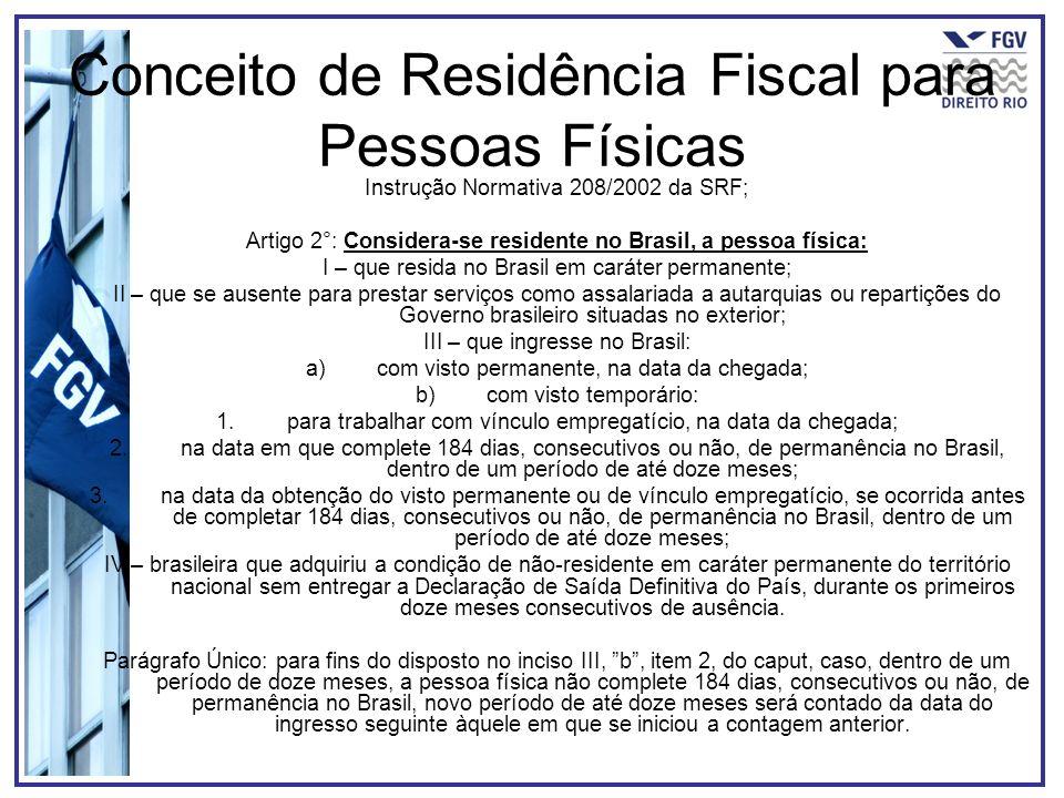 Conceito de Residência Fiscal para Pessoas Físicas