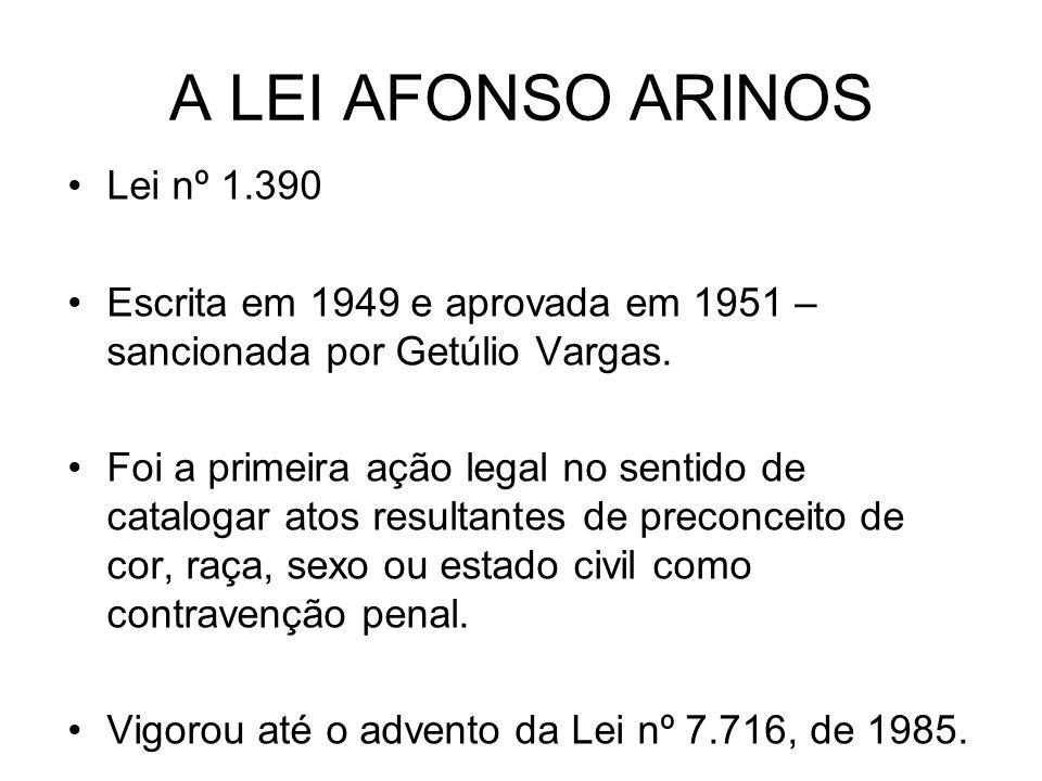 A LEI AFONSO ARINOS Lei nº 1.390