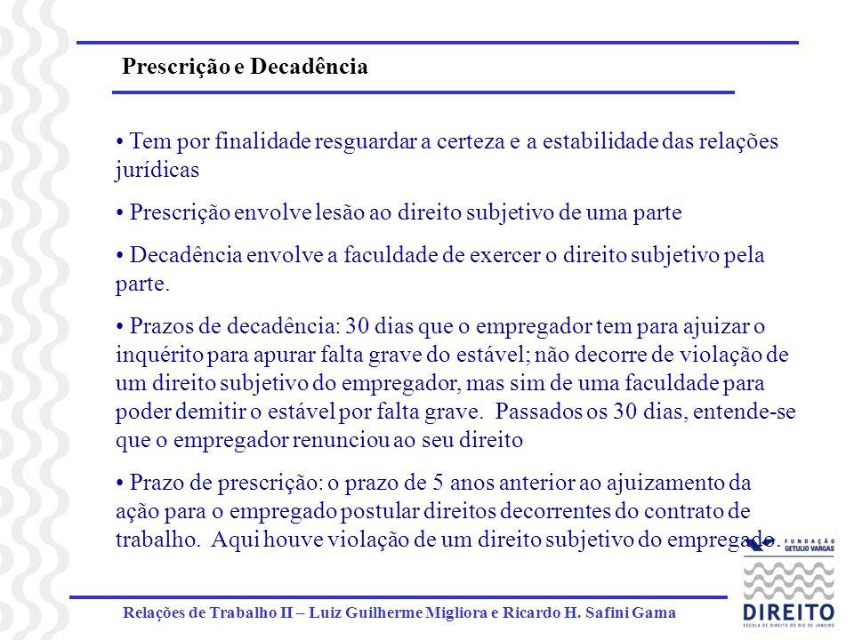 Prescrição e Decadência