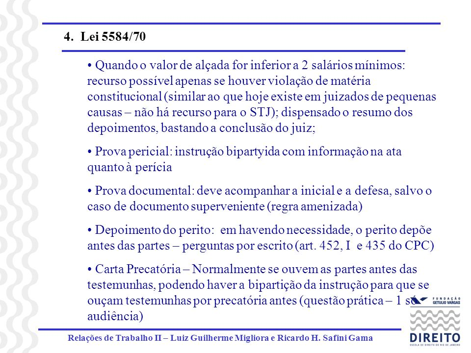4. Lei 5584/70