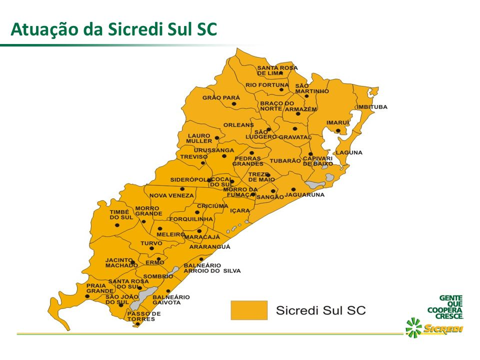 Atuação da Sicredi Sul SC