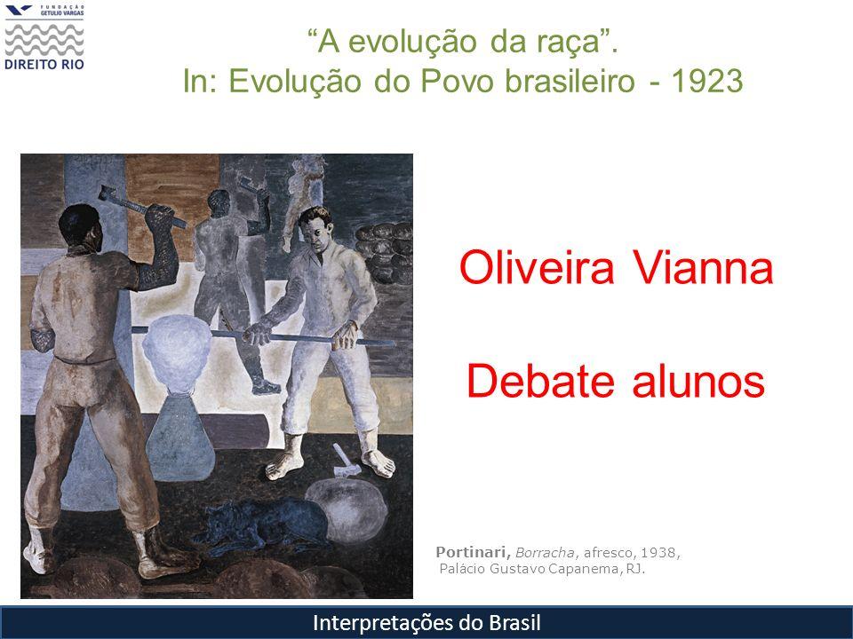 Oliveira Vianna Debate alunos A evolução da raça .