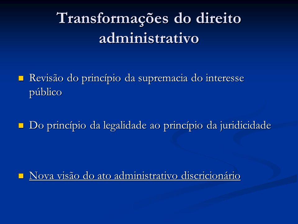 Transformações do direito administrativo