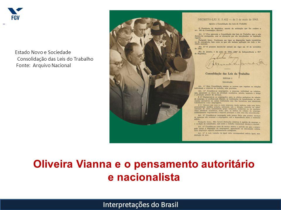 Oliveira Vianna e o pensamento autoritário e nacionalista