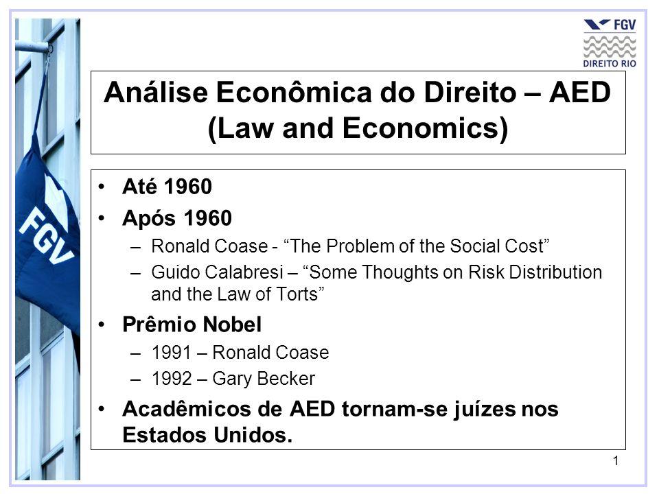 Análise Econômica do Direito – AED (Law and Economics)