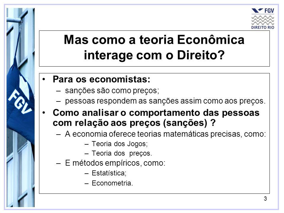 Mas como a teoria Econômica interage com o Direito