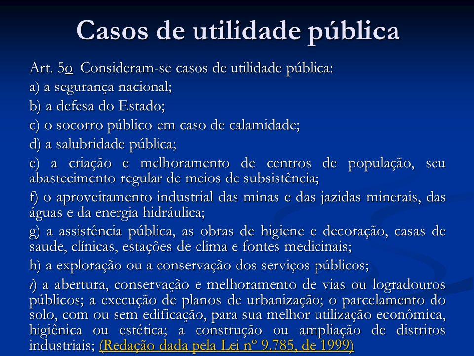 Casos de utilidade pública