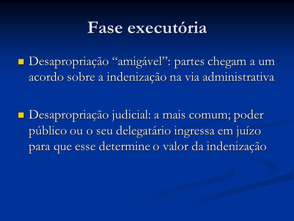 Fase executória Desapropriação amigável : partes chegam a um acordo sobre a indenização na via administrativa.
