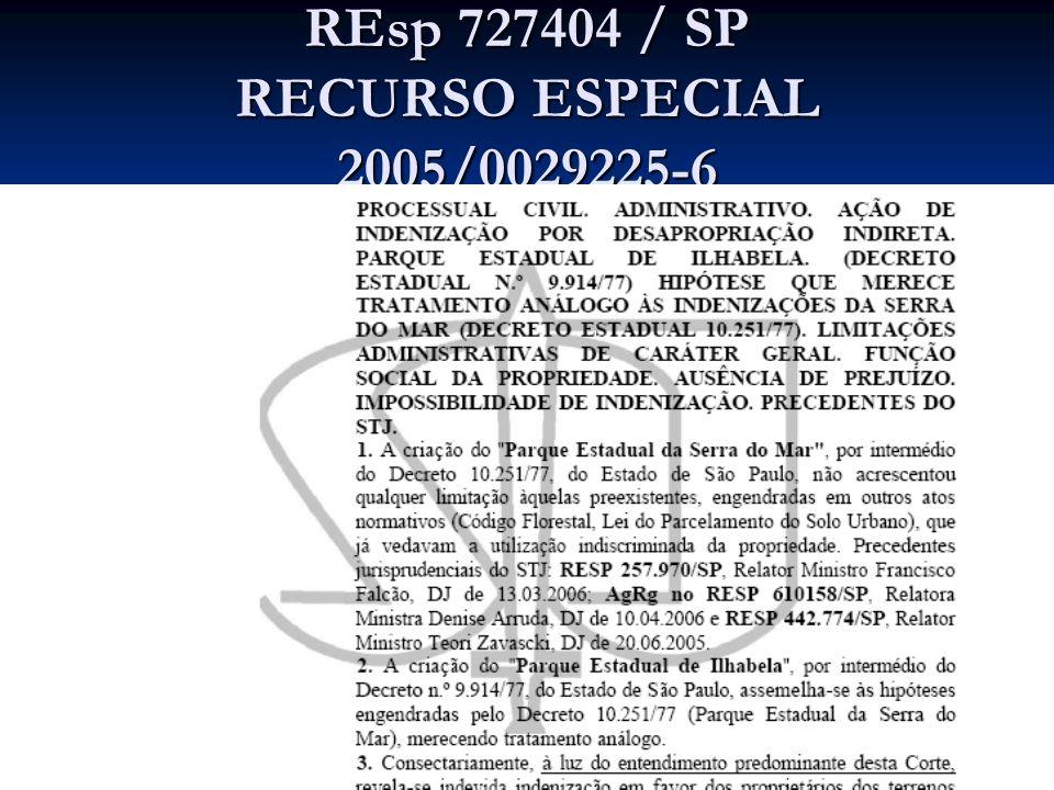 REsp 727404 / SP RECURSO ESPECIAL 2005/0029225-6
