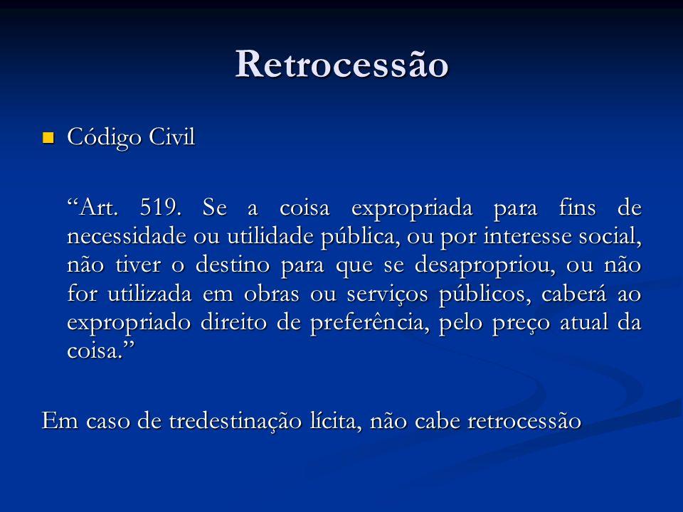 Retrocessão Código Civil