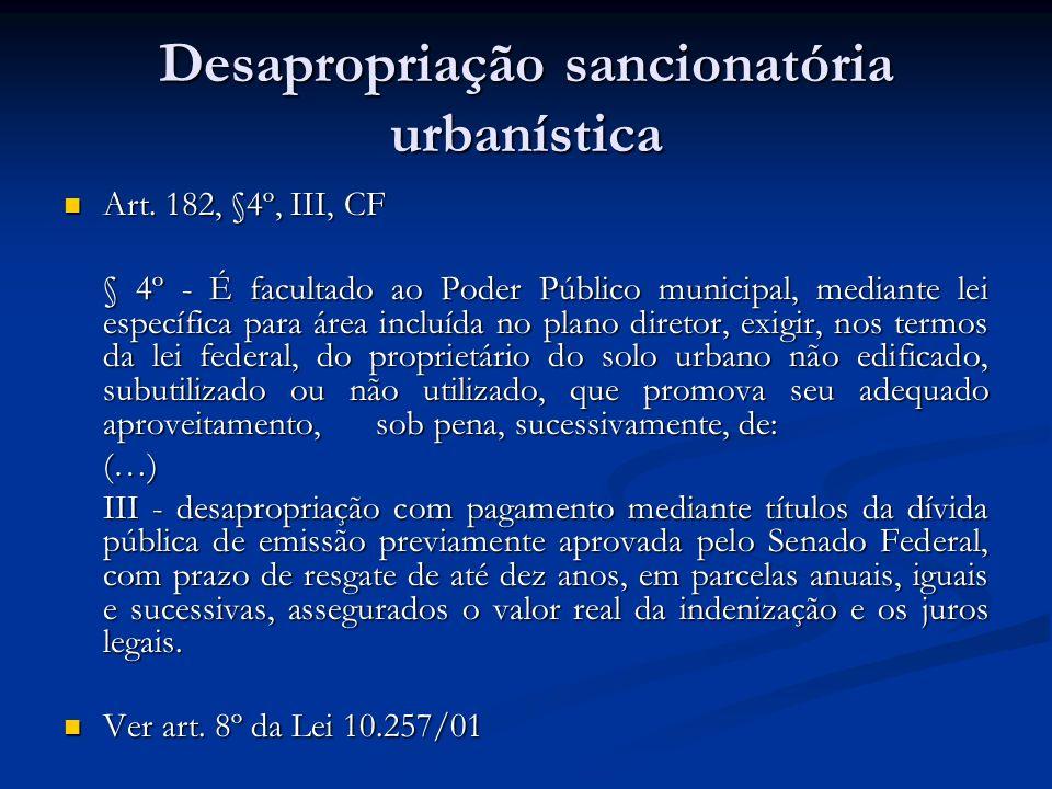 Desapropriação sancionatória urbanística
