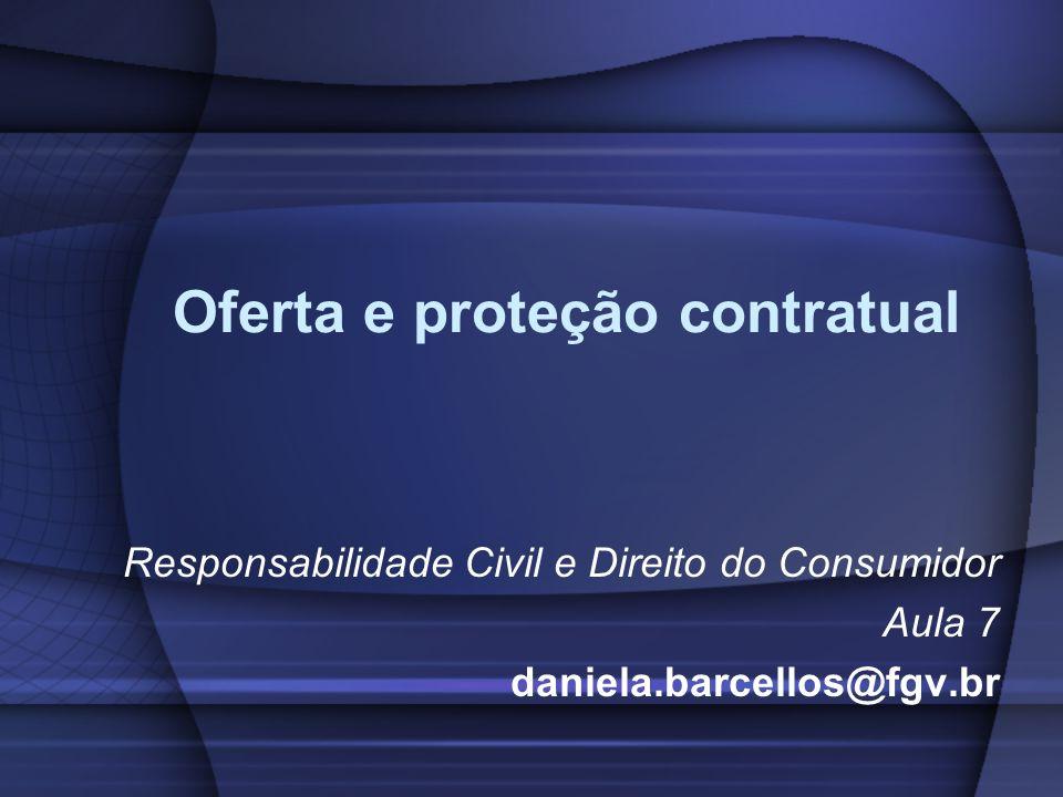 Oferta e proteção contratual