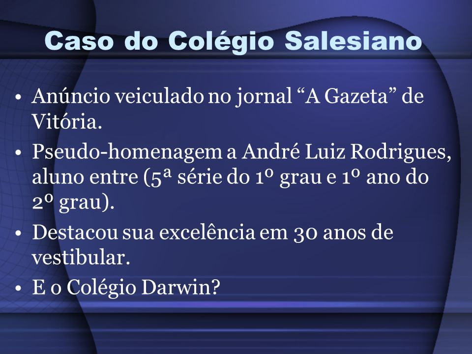Caso do Colégio Salesiano