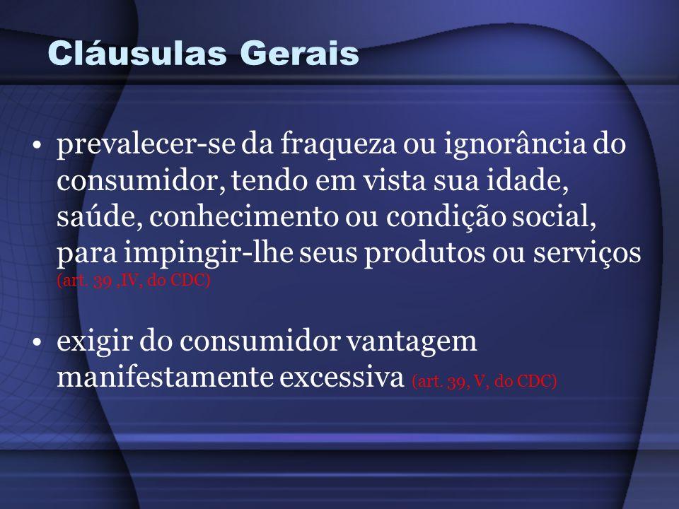 Cláusulas Gerais