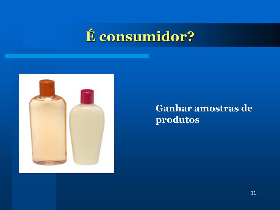 É consumidor Ganhar amostras de produtos
