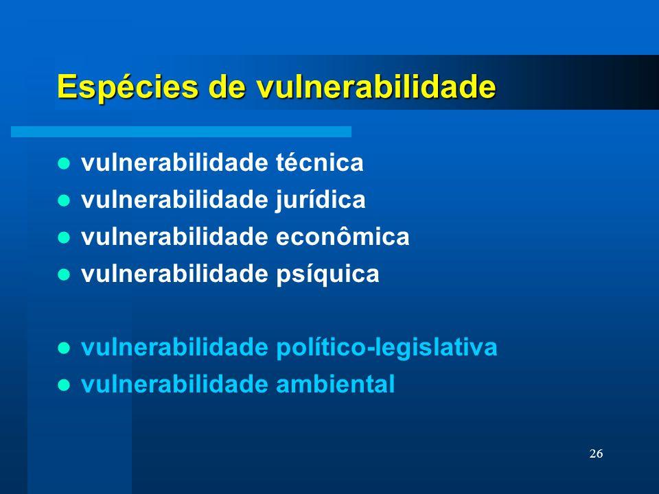 Espécies de vulnerabilidade