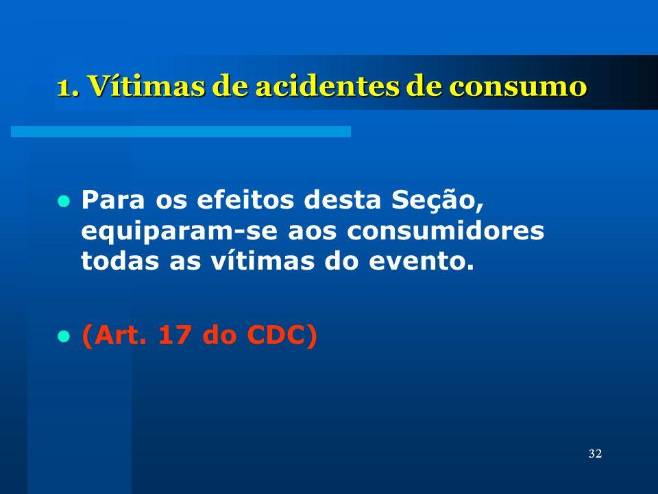 1. Vítimas de acidentes de consumo