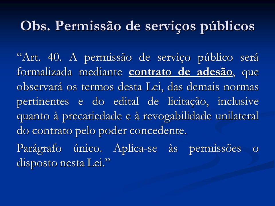 Obs. Permissão de serviços públicos