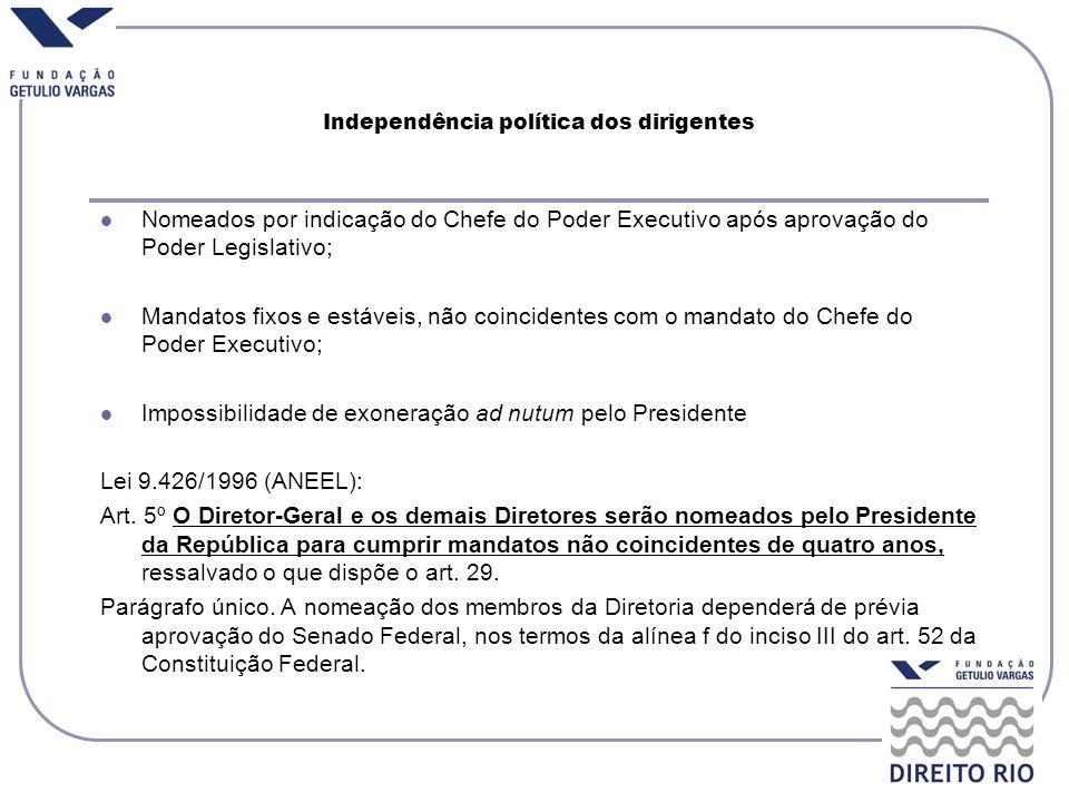 Independência política dos dirigentes
