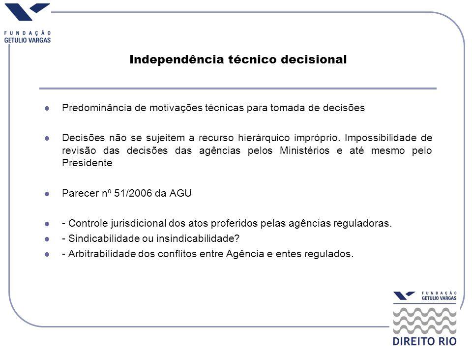 Independência técnico decisional