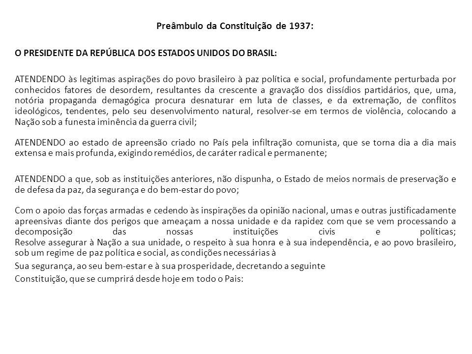 Preâmbulo da Constituição de 1937: