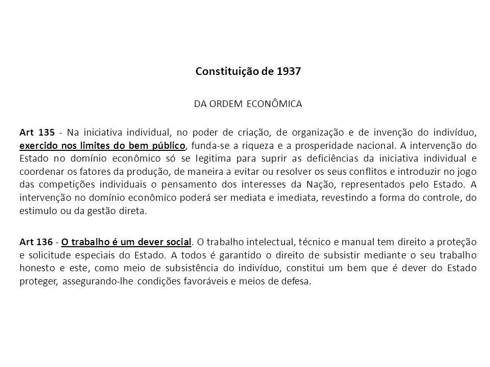 Constituição de 1937 DA ORDEM ECONÔMICA