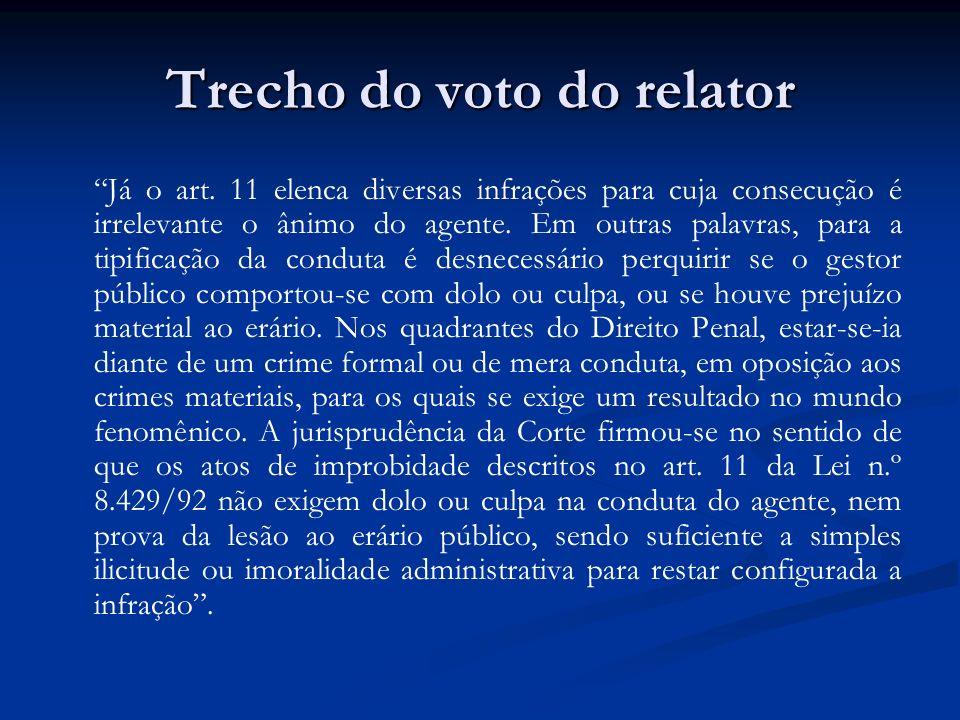 Trecho do voto do relator
