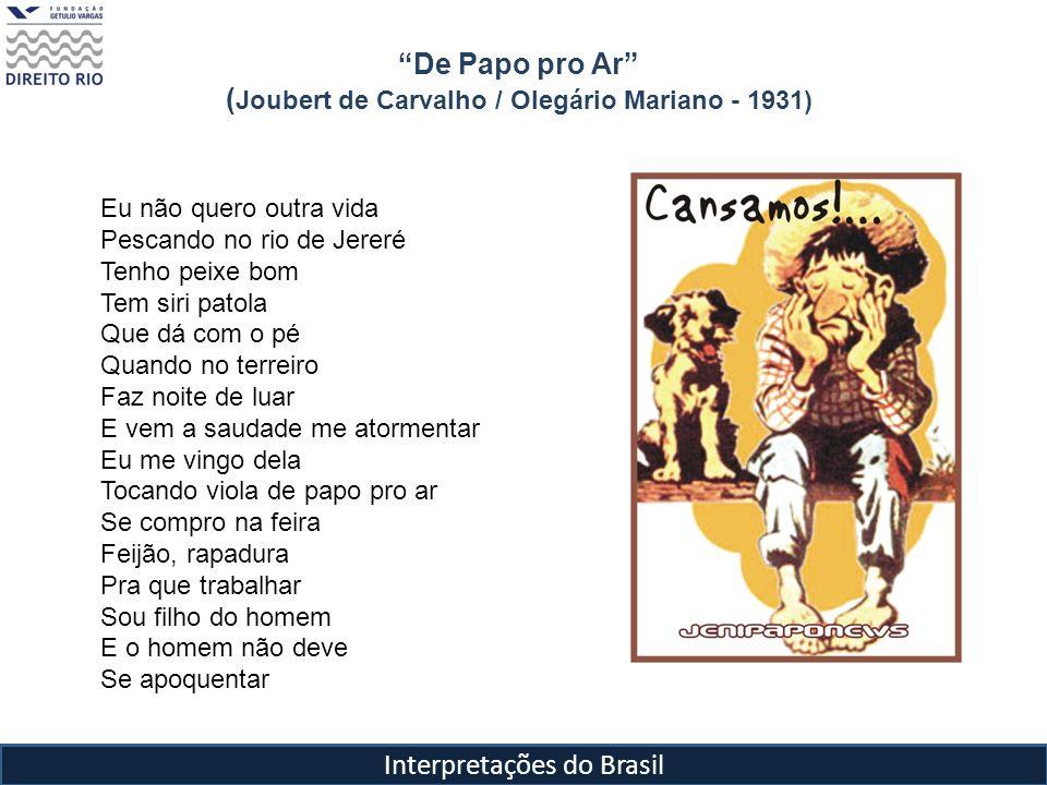 De Papo pro Ar (Joubert de Carvalho / Olegário Mariano - 1931)