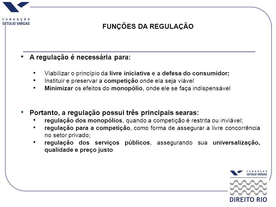 A regulação é necessária para:
