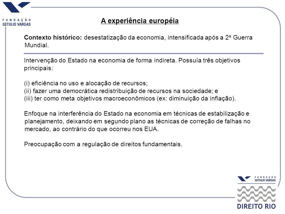 A experiência européia