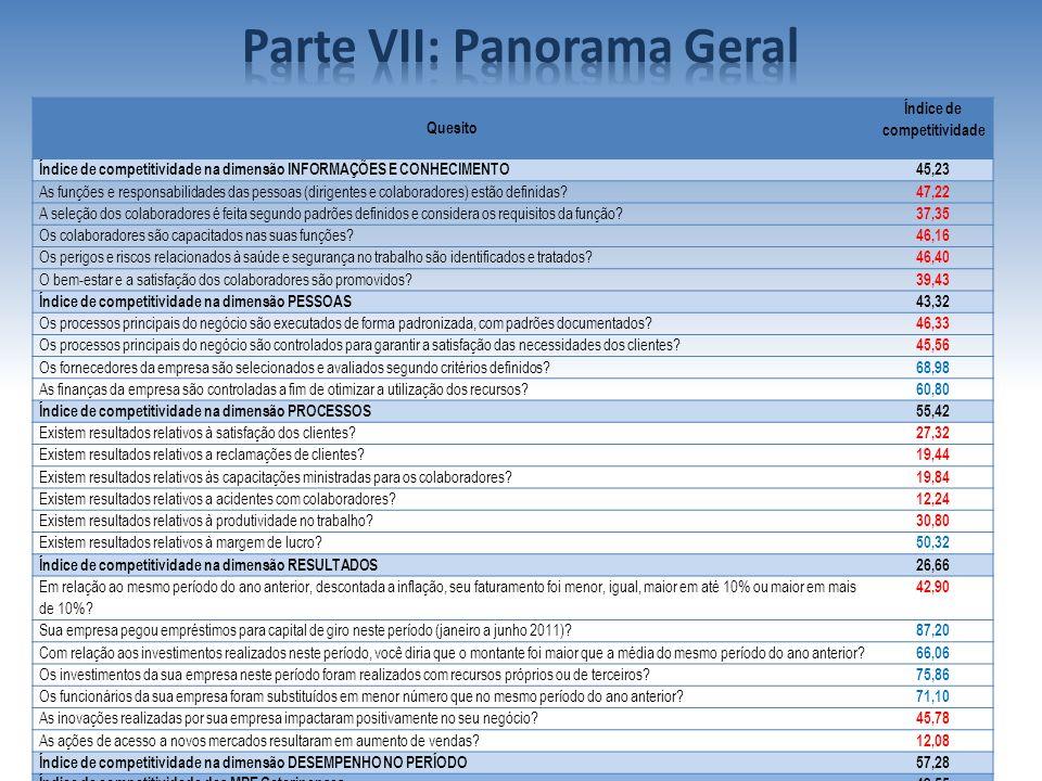 Parte VII: Panorama Geral