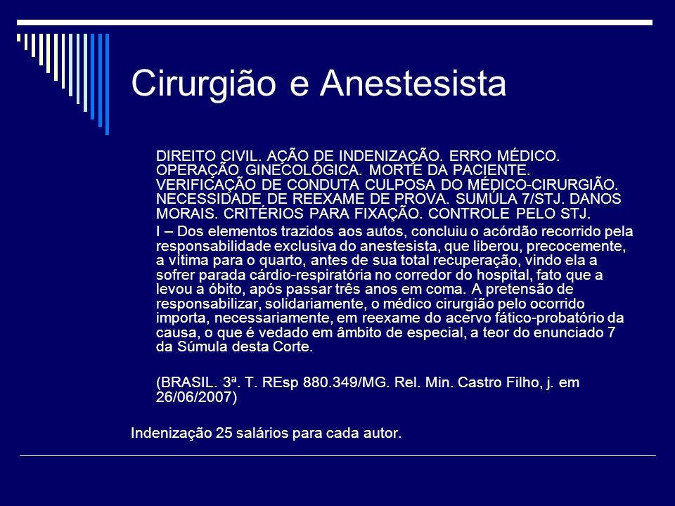 Cirurgião e Anestesista