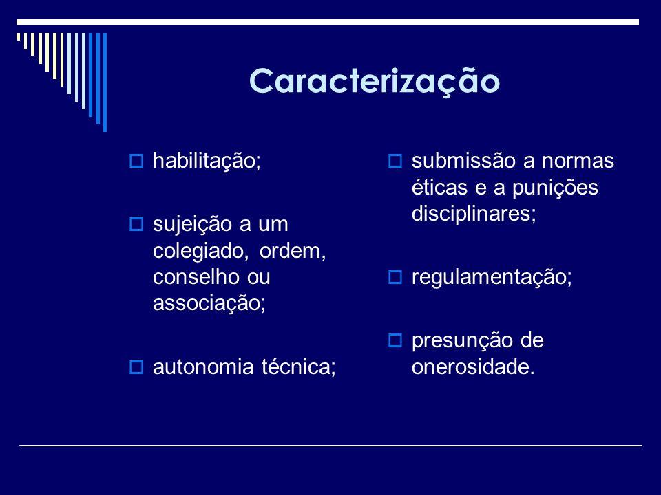 Caracterização habilitação;
