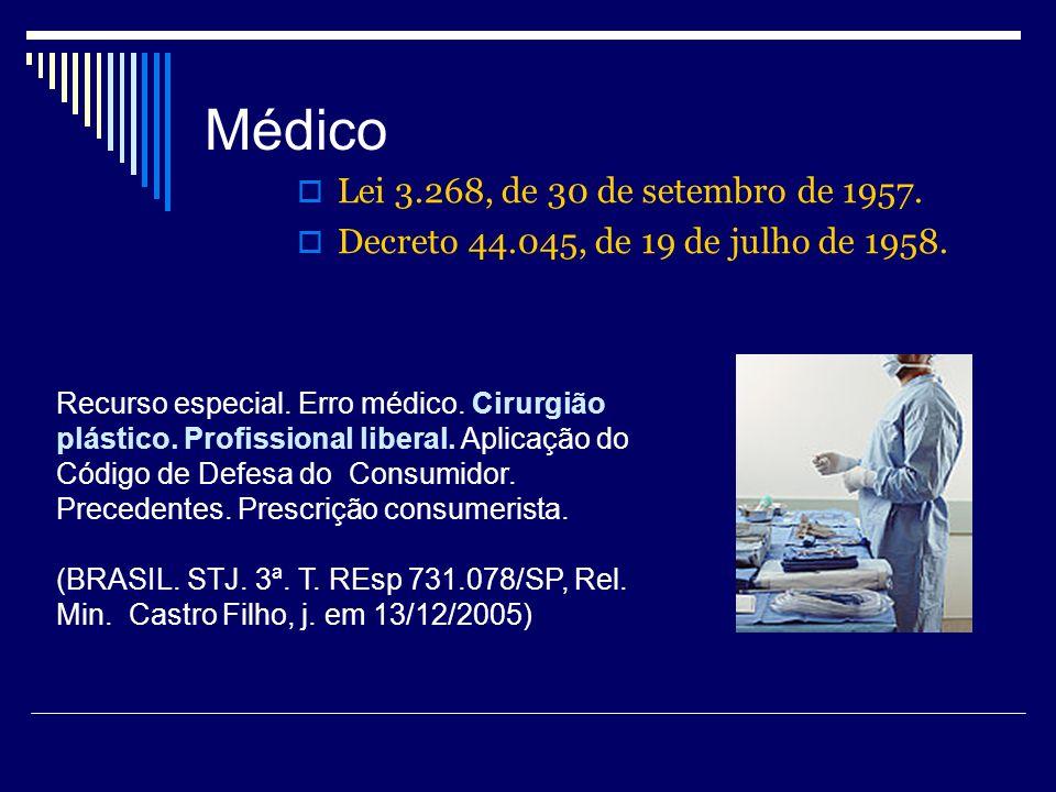 Médico Lei 3.268, de 30 de setembro de 1957.