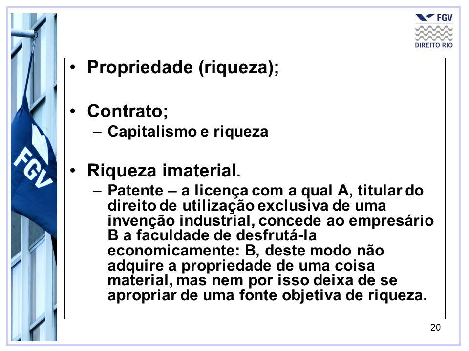 Propriedade (riqueza); Contrato;