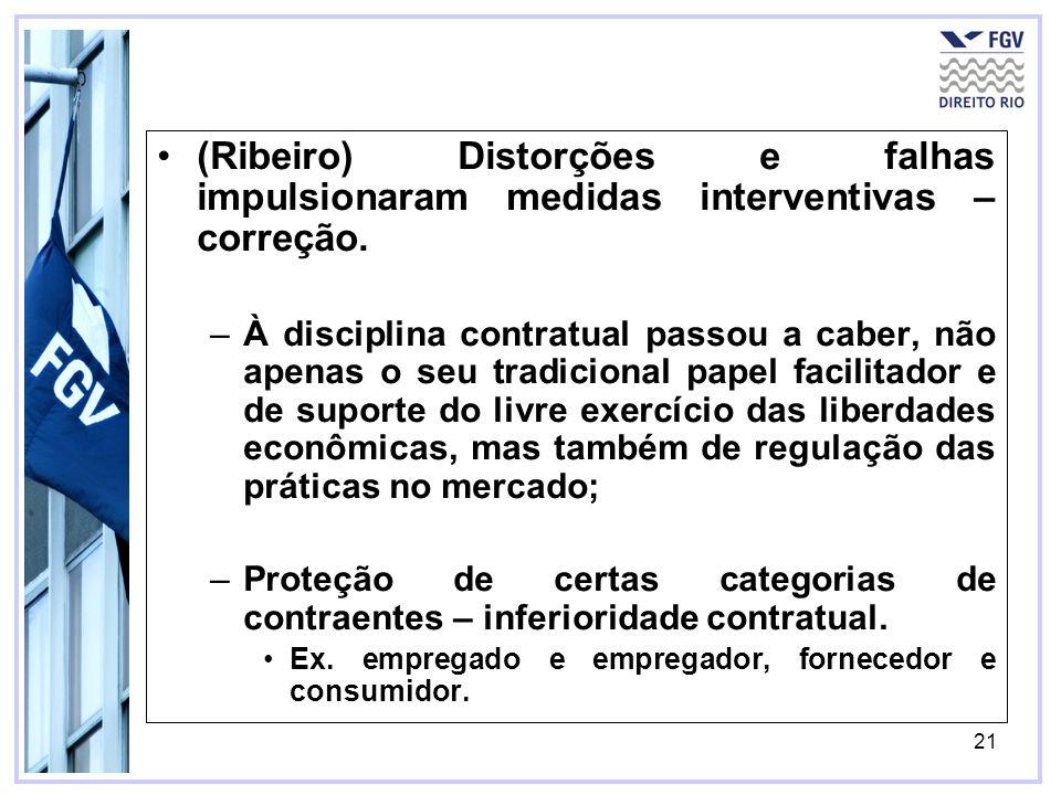 (Ribeiro) Distorções e falhas impulsionaram medidas interventivas – correção.