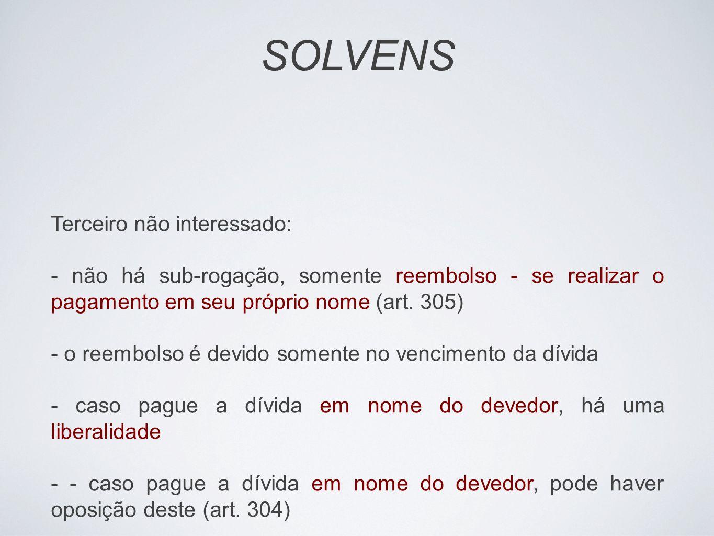 SOLVENS Terceiro não interessado:
