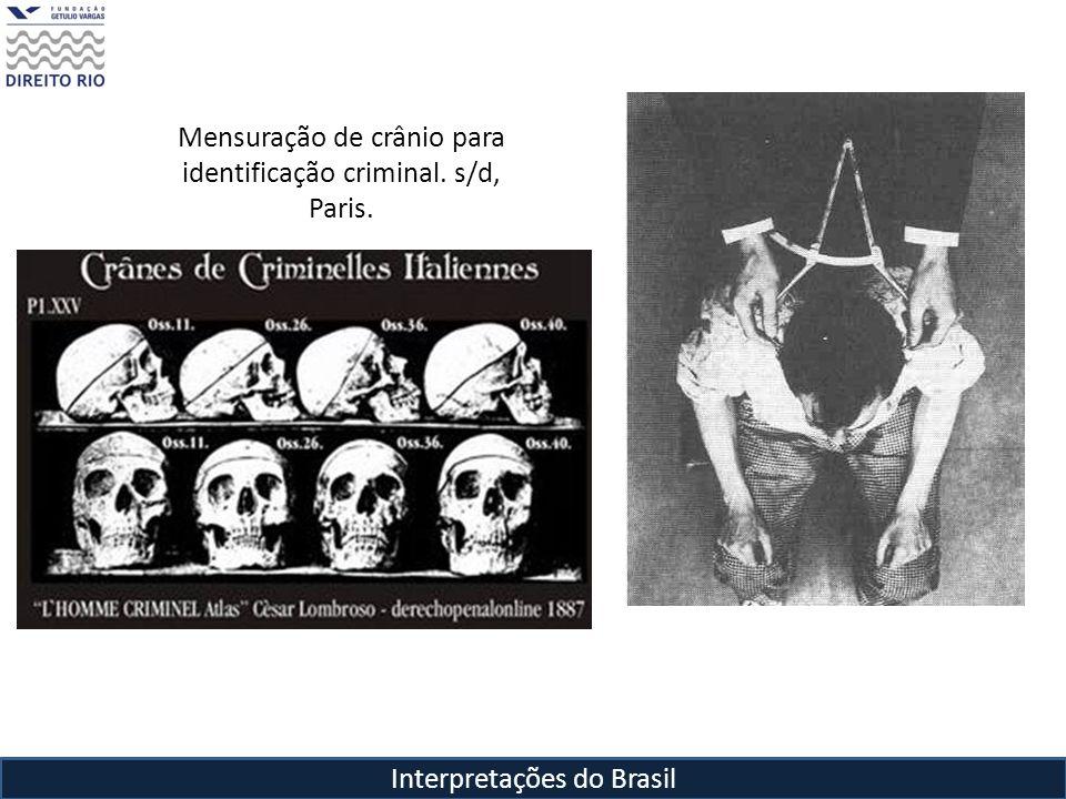 Mensuração de crânio para identificação criminal. s/d, Paris.