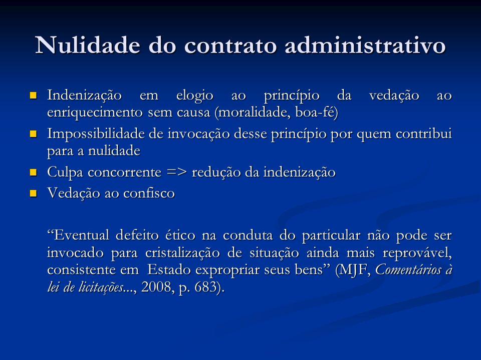 Nulidade do contrato administrativo