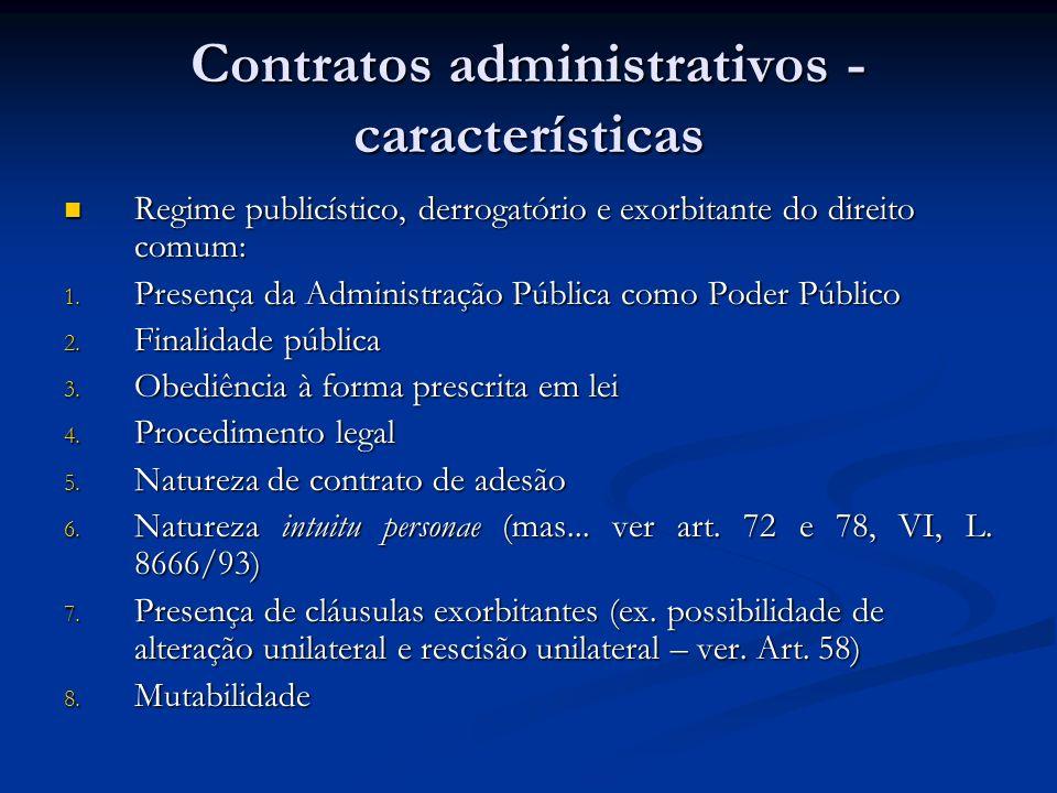 Contratos administrativos - características