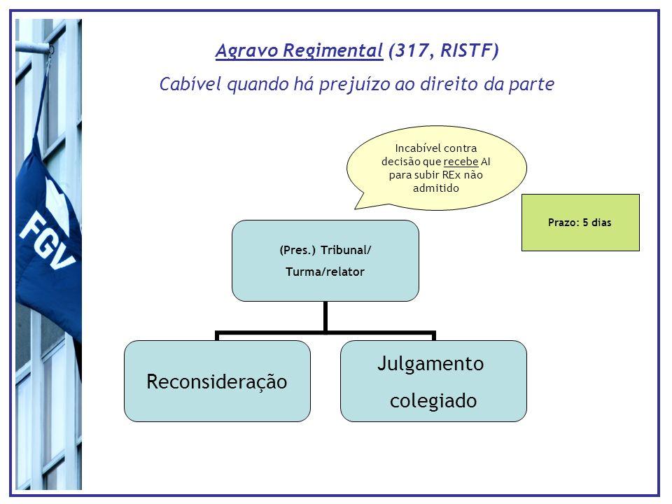 Agravo Regimental (317, RISTF)