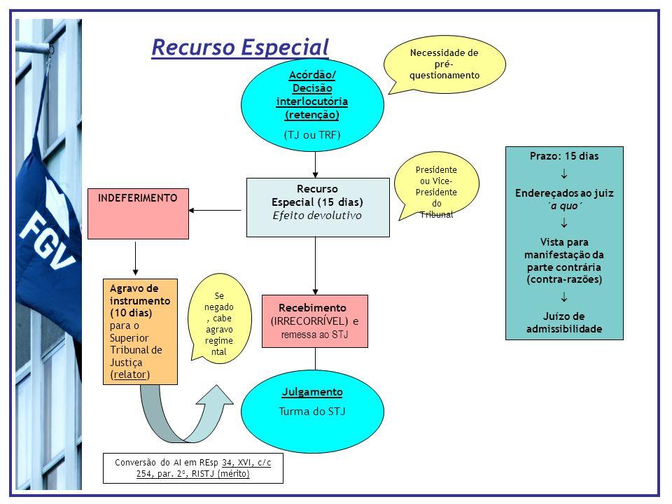 Recurso Especial Acórdão/ Decisão interlocutória (retenção)