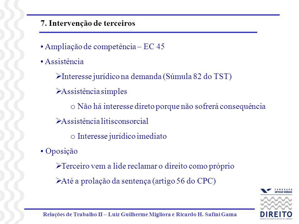 7. Intervenção de terceiros