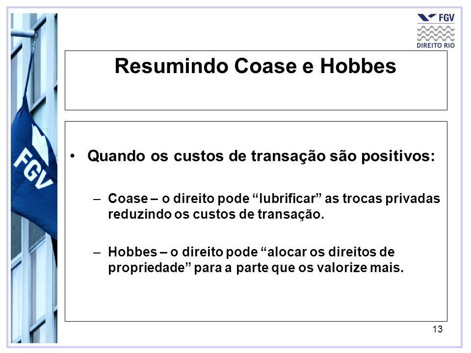 Resumindo Coase e Hobbes
