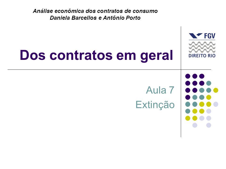 Dos contratos em geral Aula 7 Extinção