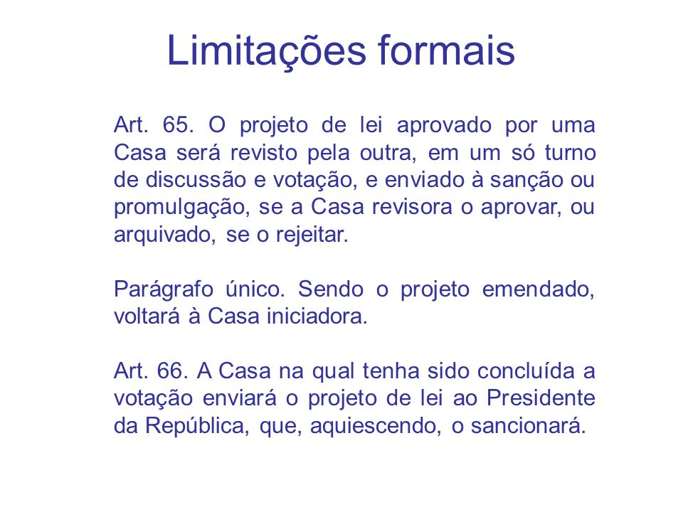 Limitações formais