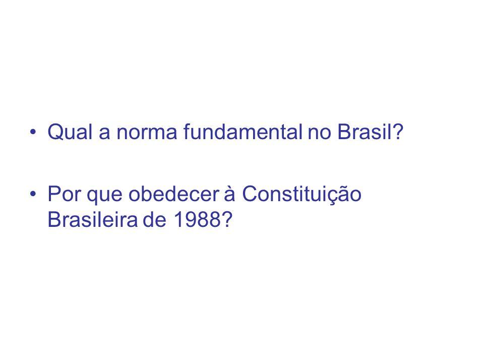 Qual a norma fundamental no Brasil