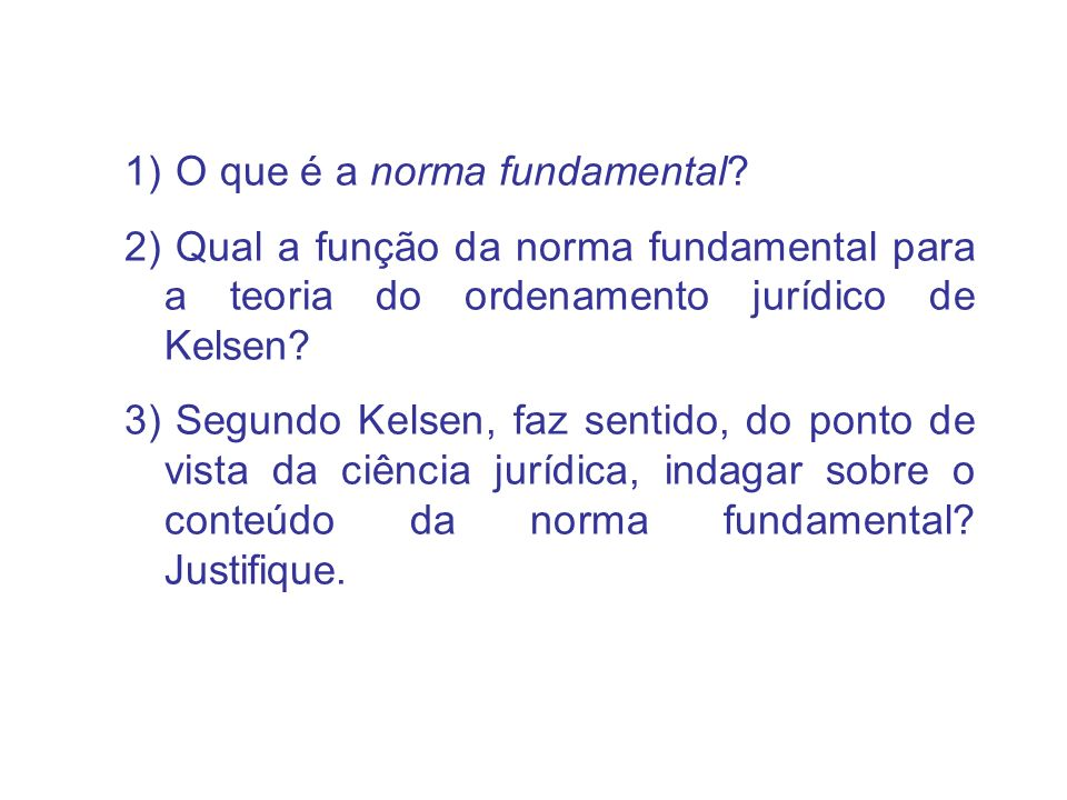 O que é a norma fundamental