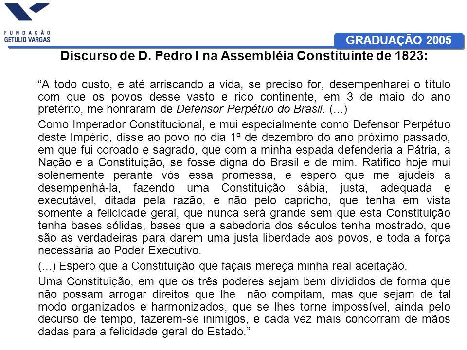 Discurso de D. Pedro I na Assembléia Constituinte de 1823: